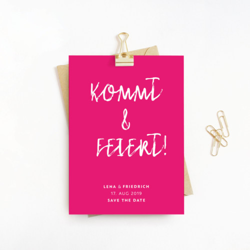 Wow! Karten | Shop | Save the date – Farbenfroh