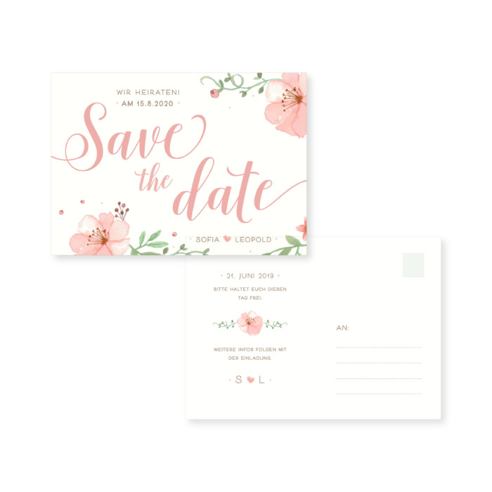 Wow! Karten | Shop | Save the date – Lovely flowers