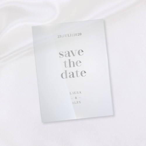 Wow! Karten | Shop | Save the Date – Modern Classic Acryl