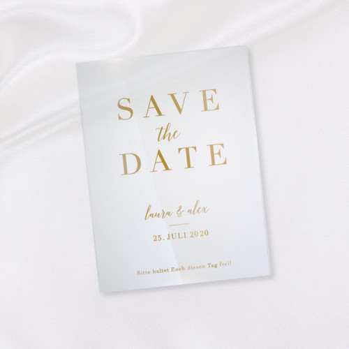 Wow! Karten | Shop | Save the Date – Eleganza Acryl