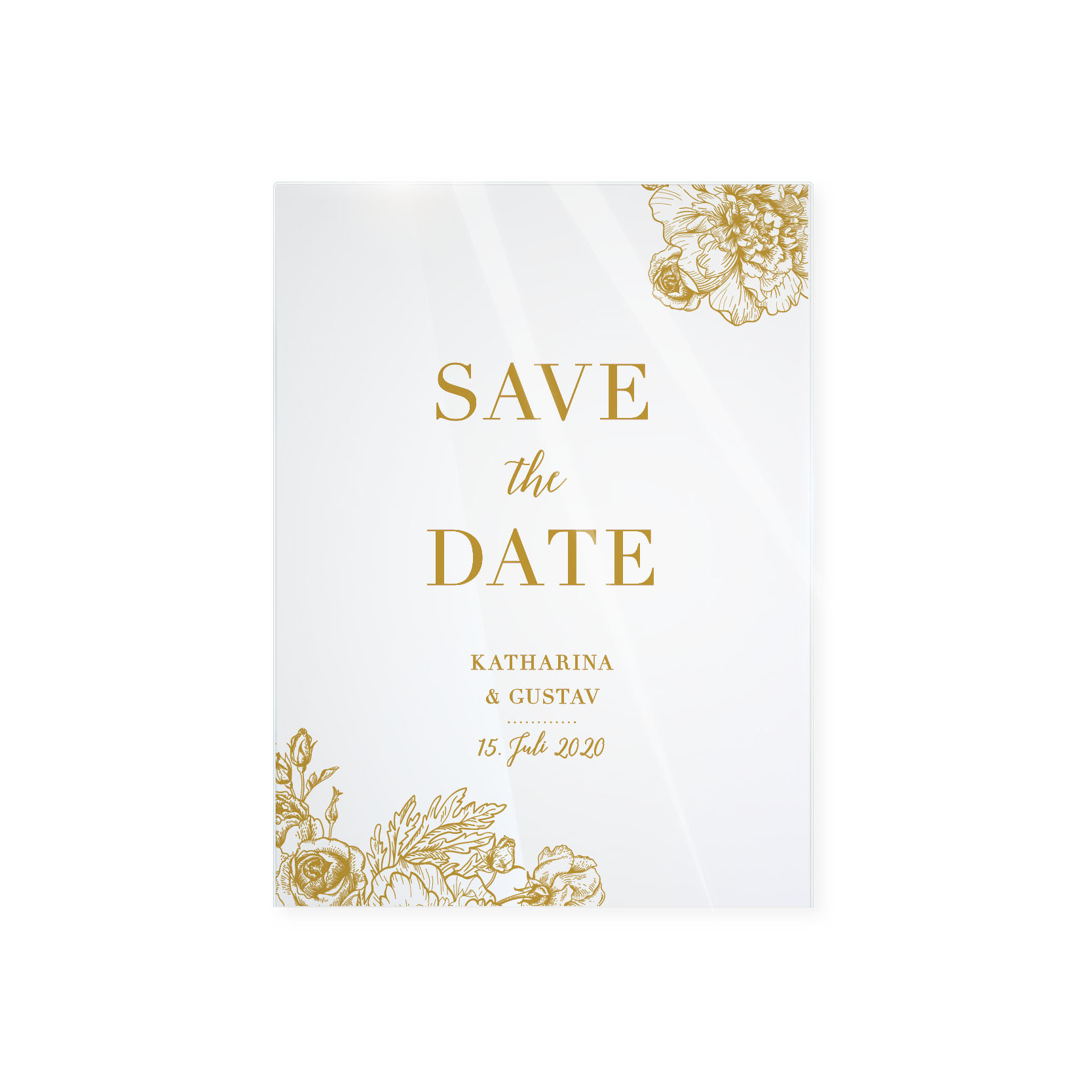 Wow! Karten | Shop | Save the Date – Noblesse Acryl